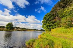 Beautiful Scene of River Dee - Aberdeenshire Aberdeen Scotland, UK. Stock Photos