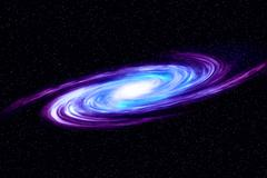 Image of spiral galaxy. Spiral galaxy in deep space with star field backgroun - stock illustration