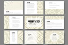 Stock Illustration of Set of 9 templates for presentation slides. Modern stylish geometric backgrounds