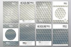 Business templates for brochure, flyer or booklet. Gray cloudy sky. Collection Stock Illustration