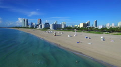 Aerial video Miami Beach 4 Stock Footage