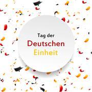Day of German unity design. Tag der deutschen Einheit - stock illustration