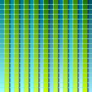Abstract squares geometric pattern design. Green and turquoise colors - stock illustration