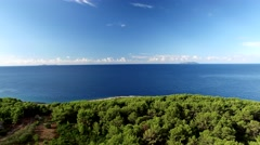 a beautiful island in the archipelago of Dubrovnik and Makarska - stock footage