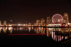 Cityscape at night Stock Photos