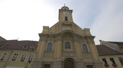 The Roman-Catholic Church Saint Peter and Paul, Brasov Stock Footage