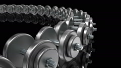 Dumbbells sport backgraund loop Stock Footage