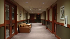 Empty hallway in a private club - stock footage