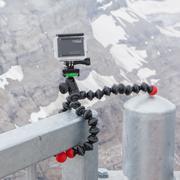 LES DIABLERETS, SWITZERLAND - JULY 22, 2015: Closeup of GoPro Hero 4 camera o Stock Photos