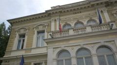 View of Baiulescu House, Brasov Stock Footage