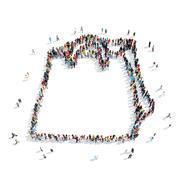 Stock Illustration of people shape  bag  cartoon