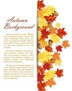Autumn Leaves  Frame - stock illustration