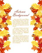 Autumn Leaves  Frame - stock illustration