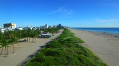 Aerial video Miami Beach 2 Stock Footage