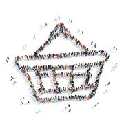 Group people shape  basket Stock Illustration