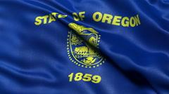 4K Oregon state flag seamless loop Ultra-HD Stock Footage