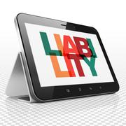 Insurance concept: Tablet Computer with Liability on  display Stock Illustration