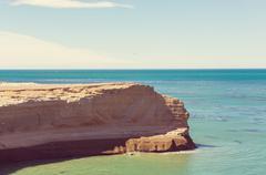 Argentina coast Stock Photos