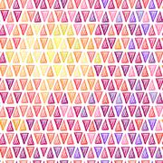 Seamless drawing triangle pattern - stock illustration
