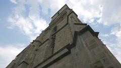 The Black Church tower, Brasov Stock Footage