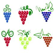 Stock Illustration of Grapes icons