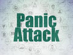 Health concept: Panic Attack on Digital Paper background - stock illustration