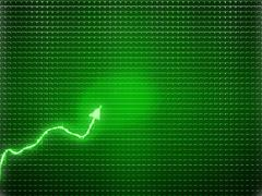 Green trend as success symbol or financial growth - stock photo
