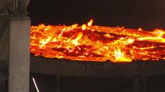 Burning metal vat - stock footage