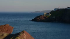 Scene of Newfoundland from the entrance of the city. Stock Footage