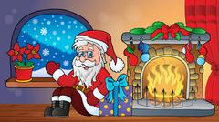 Christmas indoor topic - eps10 vector illustration. Stock Illustration