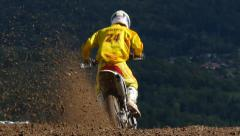 Motocross Extreme Sports Racing Dirt Bikes Stock Footage