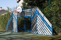 Streetball basketball game for kid to play basketball Kuvituskuvat