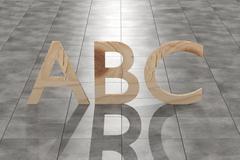ABC letters Stock Illustration