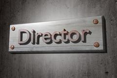 Director - stock illustration