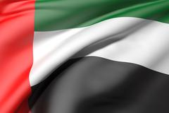 United Arab Emirates flag Stock Illustration