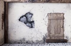 rustic door - stock illustration