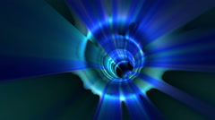 Blue animation tunnel Stock Footage