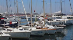 Stock Video Footage of Yacht Club Napoli