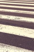 Pedestrian crossing on the road - stock photo