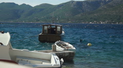 View over the Bay on the Croatian Island of Korcula. Stock Footage