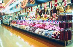 Supermarket Meat Display / Delicatessen Stock Photos