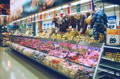 Supermarket Meat Display, 1980s Kuvituskuvat