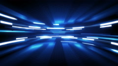 Shining blue glow loopable technology background 4k (4096x2304) Stock Footage