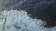 Waves and surf splash out from the side of moving boat in the Adriatic ocean Arkistovideo