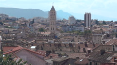 View of the City of Split in Croatia. Stock Footage