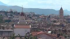 View over the Croatian City of Split. Stock Footage