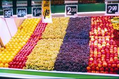 Supermarket Fruit Display 1980s Kuvituskuvat