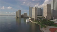4K, Aerial panoramic video of the Downtown Miami, Florida. 4K, Ultra HD. Stock Footage