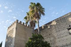 Exterior View of the Jerez de la Frontera Alcazar Stock Photos