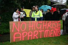Boronia Protests, No Highrise Apartments Sign at Protest - stock photo